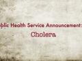 PHSA Cholera