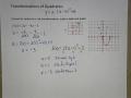 Quadratic Vertex Form and Transformations Ex 3