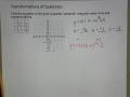 Quadratic Vertex Form and Transformations Ex 5