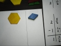 Subtracting Mixed Numbers Using Pattern Blocks 2