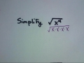 Simplifying Radicals with just variables