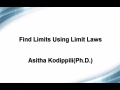 Limits: Using limit laws