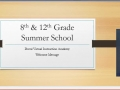 Summer School 2015 Welcome Video, Ms. Gibson
