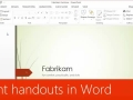 Print handouts in Word