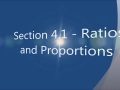 Section 4.1 - Ratios and Proportions