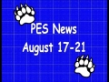 PES News August 17-21