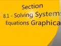 Section 8.1 - Graphing Linear Systems