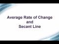 Secant Line