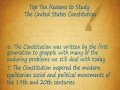 Top Ten Reasons to Study the United States Constitution