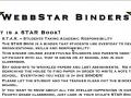 WebbSTAR Binder