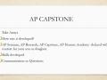 AP Honors FAQ / INFO