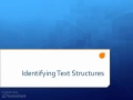 Text Structures -