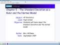 Chapter 5 - The Standard Deviation as a Ruler and the Normal Model
