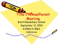 Bratt Elementary / Title I