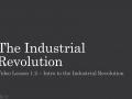 WHII.1.2 - Industrial Revolution Beginnings