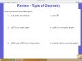 Tools of Geometry Review