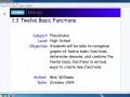 1.3 Twelve Basic Functions - Part 1