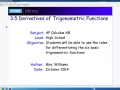 3.5 Derivatives of Trigonometric Functions