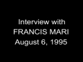 Interview with Francis Mari