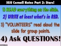 SGU Cornell Notes Part 2 Video 1