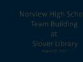 Norview High School Team Building