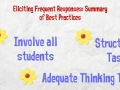 Eliciting Student Response - What To Do and Not Do