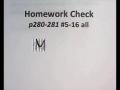 Adv Math - L10-01 - HW Check p280