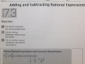 7.3 Adding and Subtracting Rational Expressions
