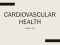 Human Body Systems Cardiovascular Health 4.4