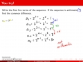 Pre-Calc @ Harrison, Learning Target 15,  Arithmetic Sequences and Series, Day 1, Pt 1