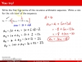 Pre-Calc @ Harrison: Learning Target 15, Arithmetic Sequences and Series, Day 1, Pt 2