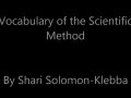Vocabulary of the Scientific Method in ASL (Solomon-Klebba)