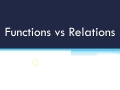 Functions & Function Notation