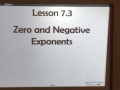 HW 11.17.15 Lesson 7.3 Zero & Negative Exponents