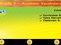 1st Grade Academic Vocabulary # 2 for homeschool and classroom