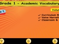 1st Grade Academic Vocabulary # 3 for homeschool and classroom