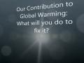 Global Warming PSA