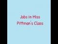 Student letters about class jobs