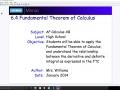 6.4 Fundamental Theorem of Calculus - Day 1