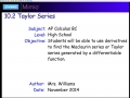 10.2 Taylor Series - Day 1