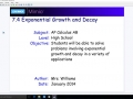 7.4 Exponential Growth and Decay