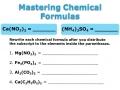 Mastering Chemical Formulas - Part 1