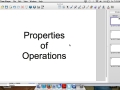 Properties of Operations