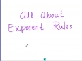 Exponent Rules For Algebra
