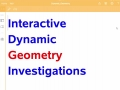 Interactive Dynamic Geometry Investigations