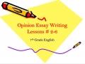 Opinion Essay Lesson 2