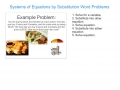 Systems of Equations Word Problems Substitution