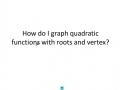 How do I find Vertex?