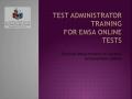 EMSA Online April 2016 TA training - Eng