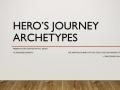 Hero's Journey Archetypes